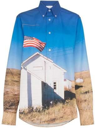 Calvin Klein Jeans Est. 1978 school flag print shirt