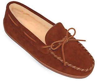 Minnetonka Men's Pile Lined Hardsole Slippers -