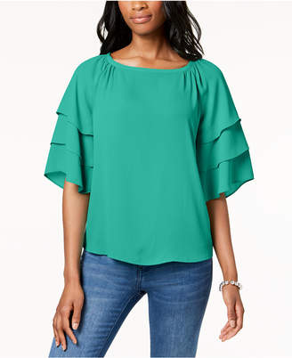 Charter Club Tiered-Sleeve Blouse, Created for Macy's
