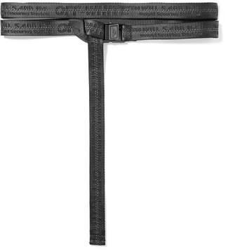 Off-White Canvas-jacquard Belt - Black