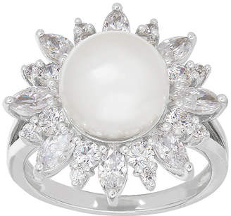 Swarovski SOFIA Certified Sofia Cultured Freshwater Pearl & Cubic Zirconia Sterling Silver Ring