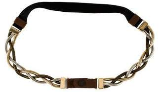 Marni Leather-Accented Braided Chain Belt