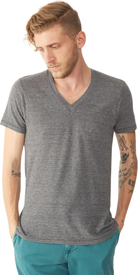 Feeder Striped V-Neck T-Shirt