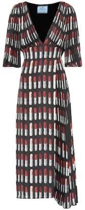 Prada Lipstick crêpe dress