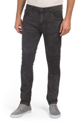 Skinny Stretch Biker Jeans