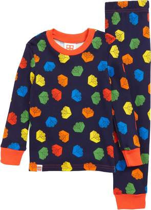 Lego Brick Fitted Two-Piece Pajamas