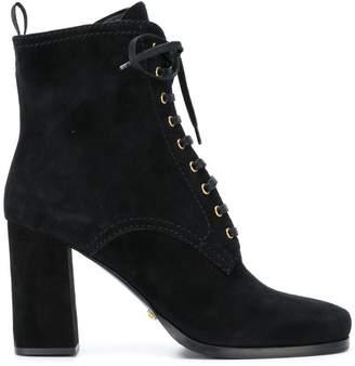 Car Shoe lace up ankle boots