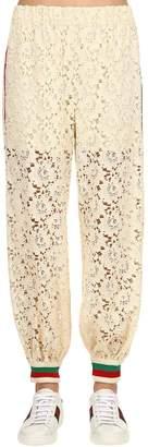 Gucci Flower Leaf Lace Sweatpants