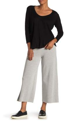 Velvet by Graham & Spencer Avalyn Heathered Wide Leg Crop Fleece Sweatpants