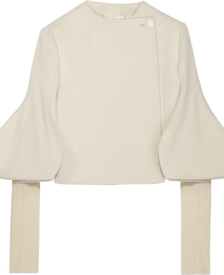 Stella Mccartney Wool Detailed Sleeve Short Coat