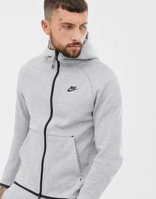 04b0df529 Nike Tech Fleece Zip Through Hoodie In Grey 928483-063