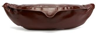 STAUD Nat Oversized Leather Belt Bag - Womens - Burgundy