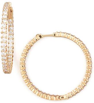 Roberto Coin 38mm Rose Gold Diamond Hoop Earrings, 2.46ct