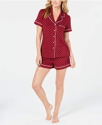 Alfani Notch Collar Pajama Shorts Set, Created for Macy's