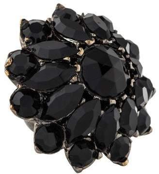 Saint Laurent Crystal Cluster Ring