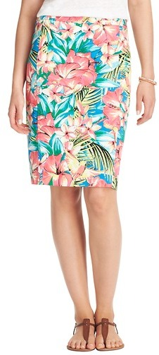 LOFT Petite Tropical Floral Pencil Skirt