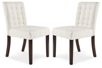 Poly & Bark Poly and Bark Dane Dining Chair in Ivory (Set of 2)