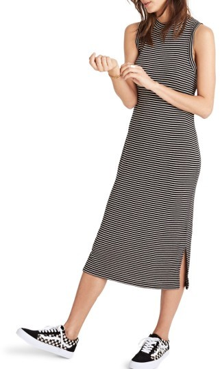 Women's Madewell Ribbed Mock Neck Midi Dress