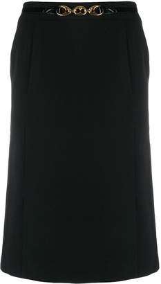 Celine Pre-Owned high rise A-line skirt