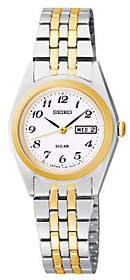 Seiko Women's Functional Solar Two-Tone Bracelet Watch $205 thestylecure.com