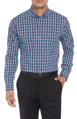 Cutter & Buck Albert Regular Fit Wrinkle Free Check Sport Shirt