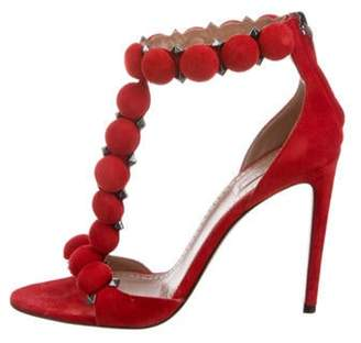 Alaà ̄a Bombe Suede Sandals Red Alaà ̄a Bombe Suede Sandals