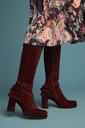 Chie Mihara Ruffled Tall Boots