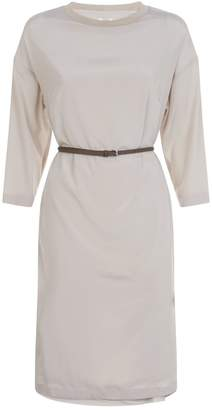 Peserico Belted Batwing Dress