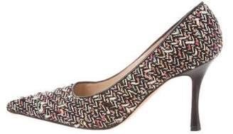 Manolo Blahnik Tweed Pointed-Toe Pumps
