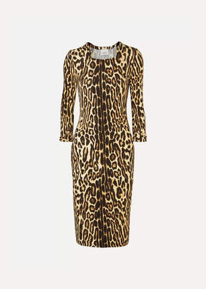 Burberry Leopard-print Stretch-jersey Dress