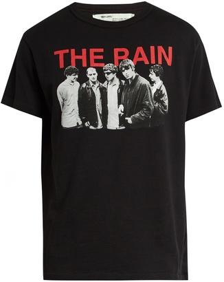 OFF-WHITE The Rain cotton-jersey T-shirt $191 thestylecure.com
