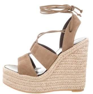 Saint Laurent Lace-Up Espadrille Sandals