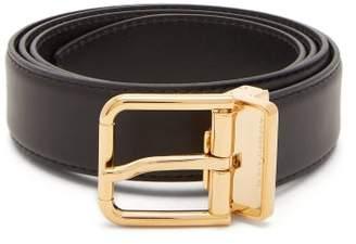 Dolce & Gabbana Leather Belt - Mens - Black Gold