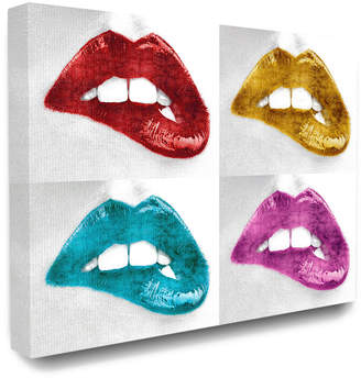 Stupell The Stupell Home Decor Collection Glam Fashion Metallic Lipstick Lips In Four Colors