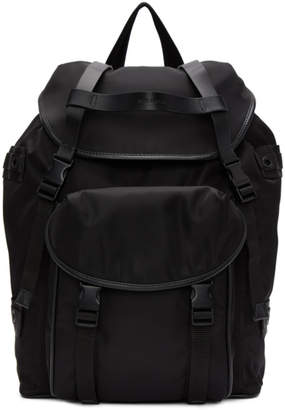 Neil Barrett Black Military-Style Slime Backpack