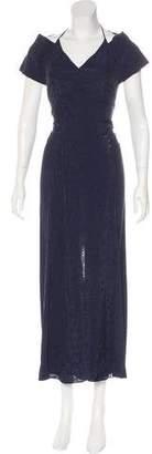 Roland Mouret Open Back Maxi Dress