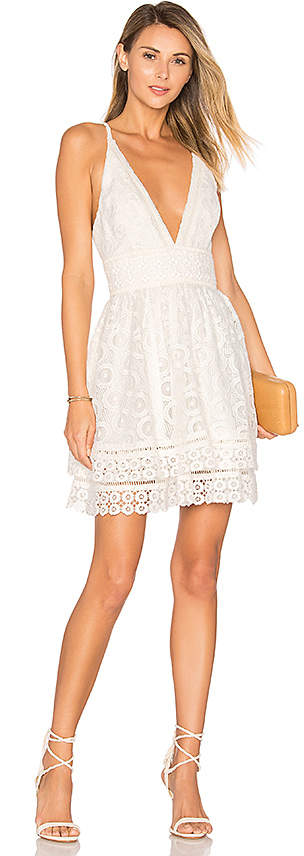 Lovers + Friends Lovers + Friends Moon Dance Dress in White 5