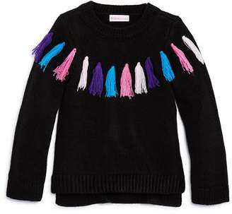 Design History Girls' Rainbow Tassel Sweater - Little Kid