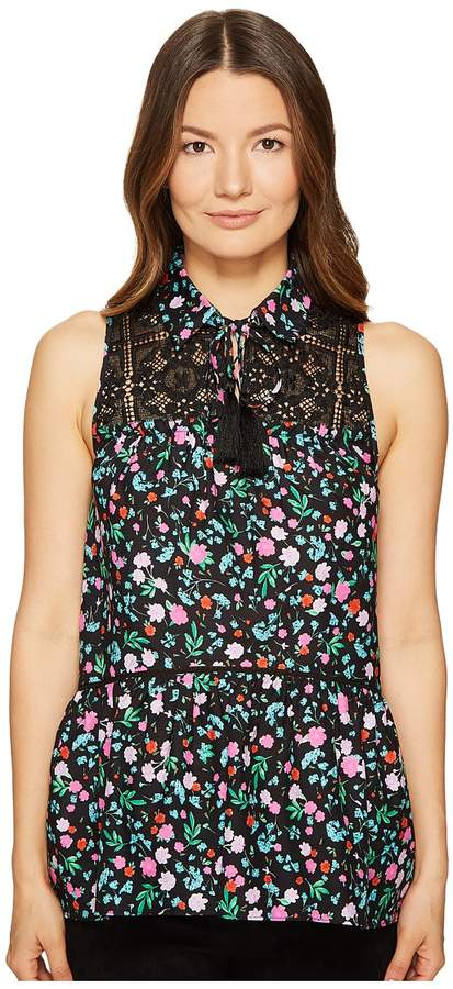 Kate Spade New York Greenhouse Lace Yoke Top Women's Clothing