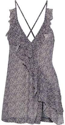 IRO Grifin Ruffled Floral-Print Georgette Camisole