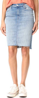 MOTHER The Peg Step Fray Skirt $198 thestylecure.com