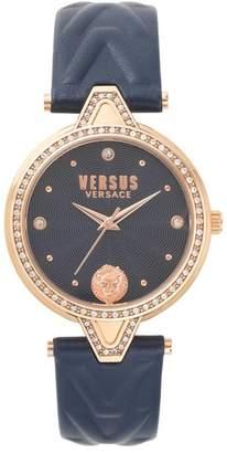 Versus By Versace VERSUS Versace V Versus Leather Strap Watch, 34mm