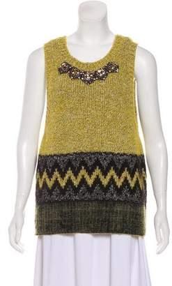 Marni Embellished Sleeveless Sweater