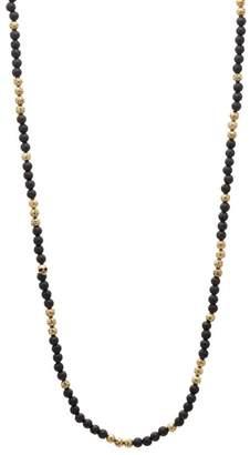 Mercer Brass & Lava Bead Necklace