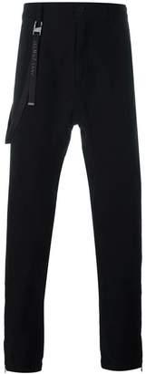 Helmut Lang strap detail trousers