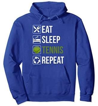Funny Eat Sleep Tennis Repeat Pullover Hoodie