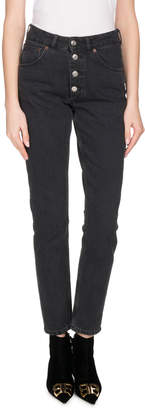 Balenciaga High-Waist Button-Fly Skinny Jeans