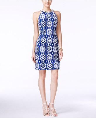 Nine West Floral-Lace Halter Sheath Dress $89 thestylecure.com