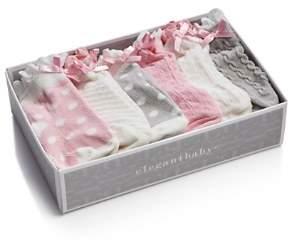 Elegant Baby Girls' Ruffled Sock Set, 6 Pack - Baby
