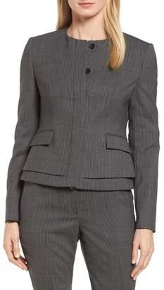 BOSS Jasyma Stripe Wool Suit Jacket (Regular & Petite)